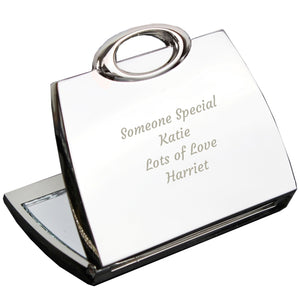 Personalised Any Message Handbag Compact Mirror - Great gift for Mother's Day