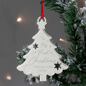 Personalised 'My 1st Christmas' Tree Metal Decoration