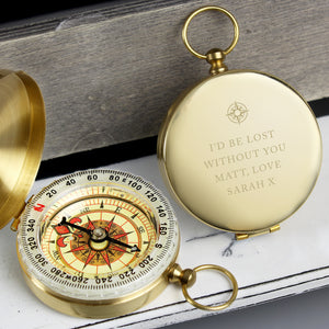 Personalised Keepsake Compass (Free Text)