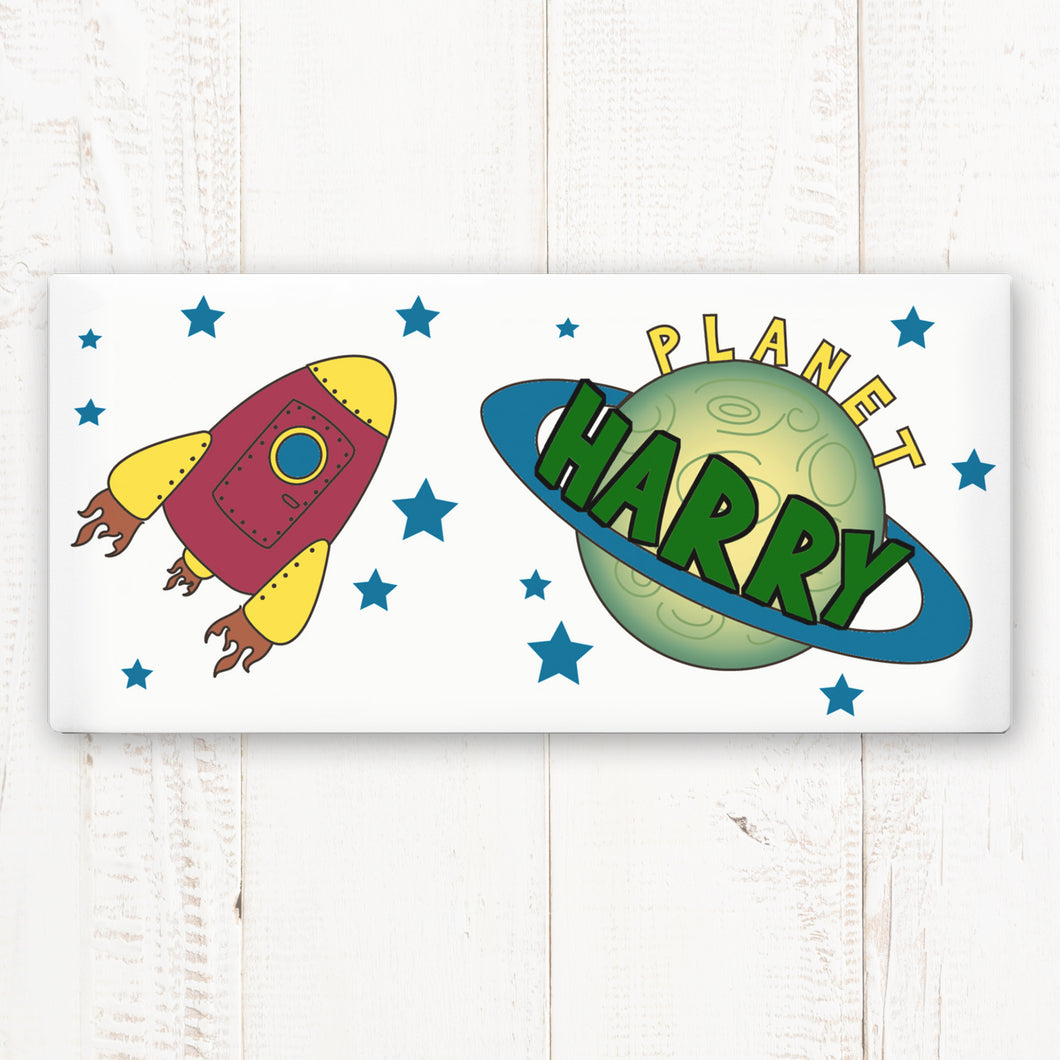 Personalised Space Door Plaque
