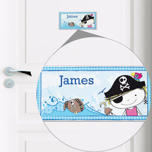 Personalised Pirate Ceramic Door Plaque