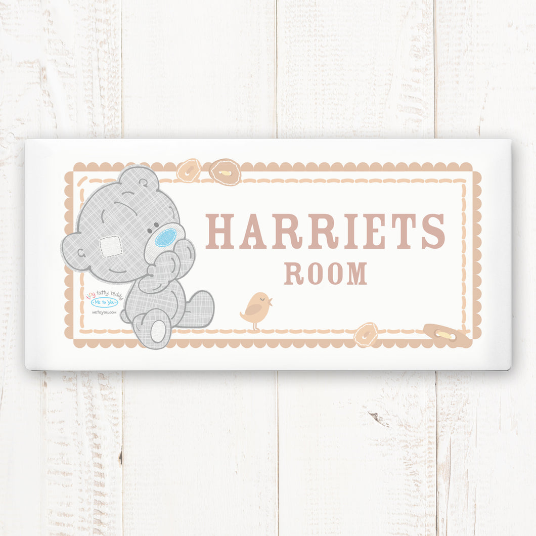 Personalised Tiny Tatty Teddy Door Plaque
