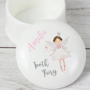 Personalised Tooth Fairy Ceramic Trinket Box
