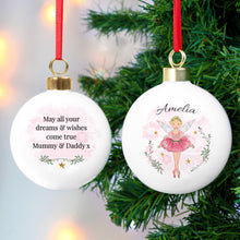 Personalised Sugar Plum Fairy Ceramic Christmas Bauble