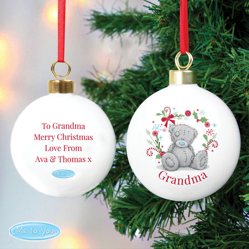 Personalised Me To You (Tatty Teddy) Christmas Bauble - 2 versions available