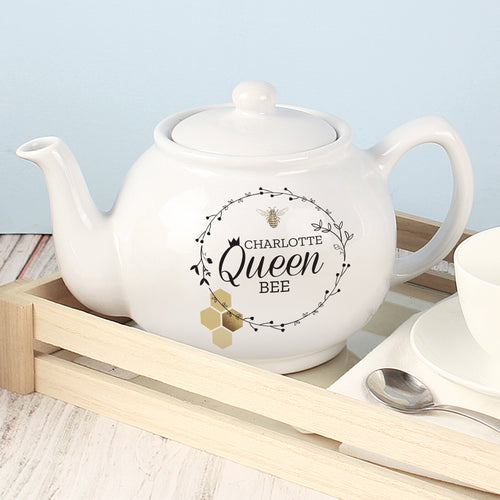 Personalised Queen Bee Teapot - Great for Mother's Day