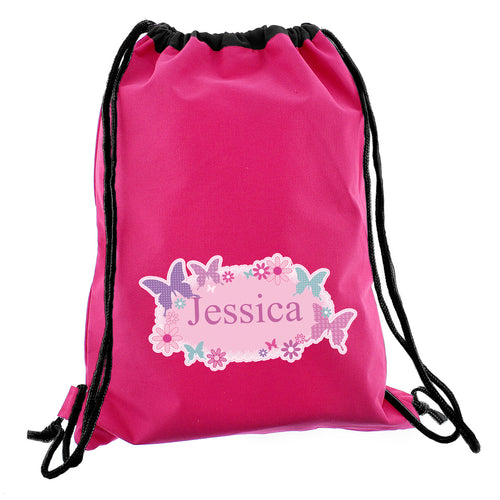 Personalised Butterfly Swim & Gym Bag