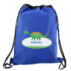 Personalised Dinosaur Swim & Gym Bag - Available in Blue or Black