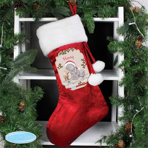 Personalised Me to You Reindeer Christmas Stocking