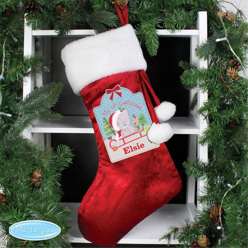 Personalised Tiny Tatty Teddy 'My 1st Christmas' Christmas Stocking