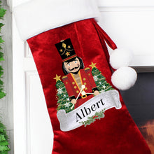 Personalised Red Nutcracker Christmas Stocking