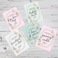Personalised 'This Entitles you To...' Card/Tokens - Perfect for Mother's Day/Birthdays