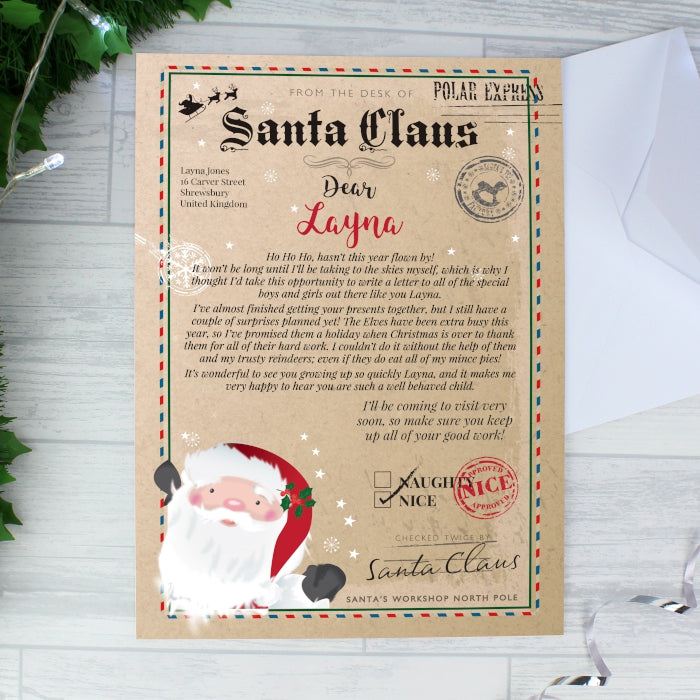 Personalised Letter from Santa Claus - Free Shipping