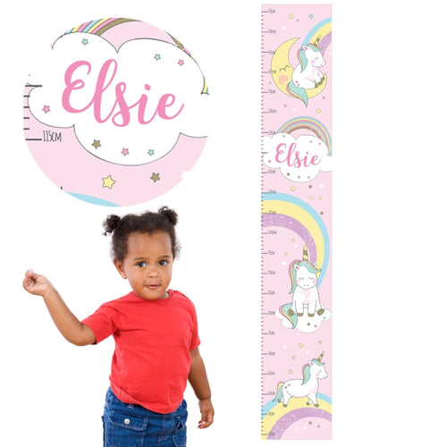 Personalised Baby Unicorn Height Chart
