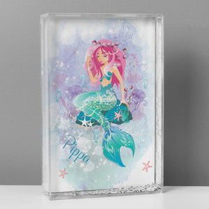 Personalised Mermaid Glitter Shaker Ornament