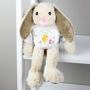 Personalised Easter Meadow T-Shirt Bunny Soft Toy