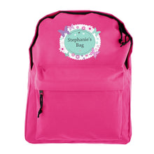 Personalised Pink Butterfly Backpack