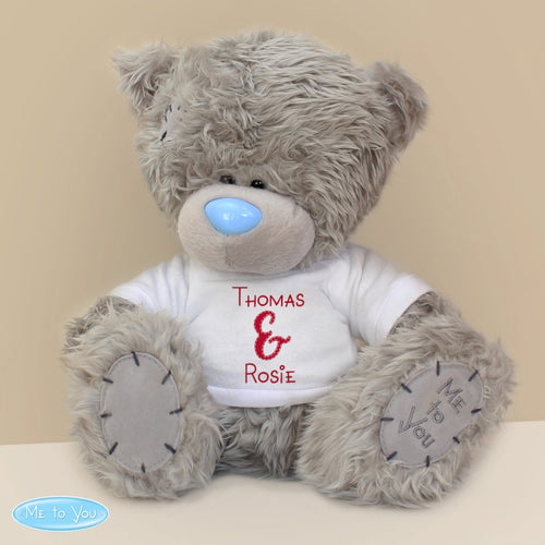 Personalised Me to You (Tatty) Bear with Couples T-Shirt - Perfect for Valentine's Day, Anniversaries and Weddings