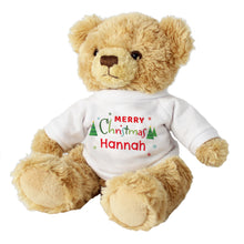 Personalised Merry Christmas Soft Toy Teddy Bear
