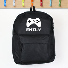Personalised Black Gaming Backpack
