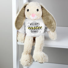 Personalised Easter Bunny Soft Toy with Easter Egg T-Shirt