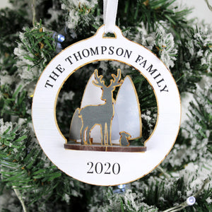 Personalised Make Your Own Woodland Deer 3D Hanging Christmas Decoration