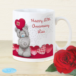 Personalised Me To You Heart Mug - Perfect for Valentine's Day, Anniversaries, Birthdays