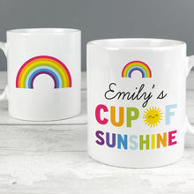 Personalised Rainbow 'Cup of Sunshine' Mug