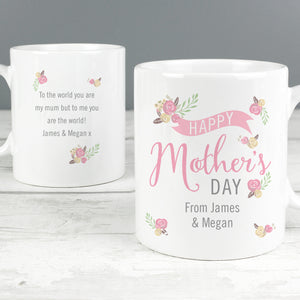 Personalised Floral Bouquet Mother's Day Mug