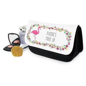 Personalised Flamingo Make Up Bag