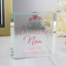 Personalised One in a Million Large Crystal Token - perfect for Valentine's Day, Mother's Day etc.