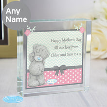 Personalised Me To You Pastel Belle Large Crystal Token - perfect for Valentine's Day, Mother's Day etc.