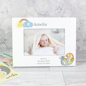 Personalised Noah's Ark 6x4 inch White Photo Frame