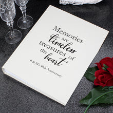 Personalised 'Memories are Timeless' Traditional Photograph Album - perfect for Christenings, Weddings, Anniversaries, etc.