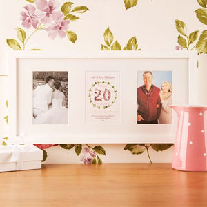 Personalised Illustrated 'Special' Anniversary Wall Frame