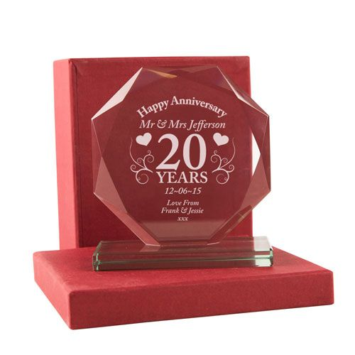 Personalised Glass 'Special' Anniversary Ornament plus Presentation Box