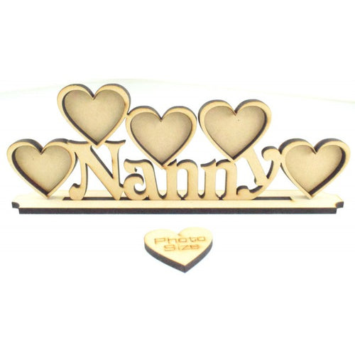 Personalised and Customisable Name/Role plus Heart Frame(s) Sign