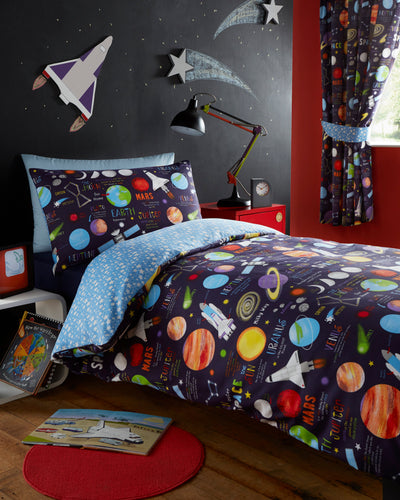 Solar System (Planets) Pleat Curtains