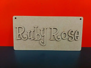 Personalised and Customisable Wooden Name Plaque