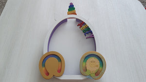 NEW DESIGN - Customisable Wooden Unicorn Egg (Chocolate) Holder - Can be Personalised