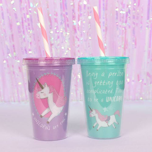 Unicorn Drinking Cup - Two Designs Available (Pink or Blue)
