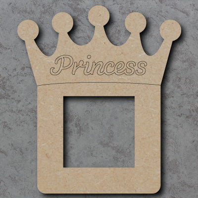 Personalised Customisable Wooden Princess Light Switch Surround
