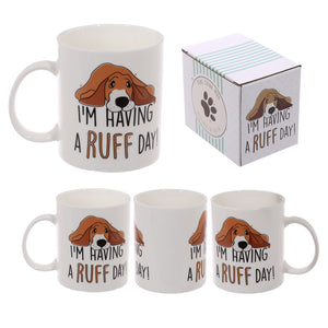 New Bone China Dog Mug - 'I'm Having A Ruff Day!