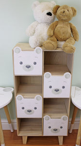 'Baby Bear' Four Drawer / 4 Shelf Storage Unit