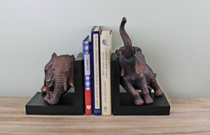 Bronze Effect Bookends - Elephant Design