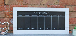 Chalkboard/Blackboard Week Planner with Green or Grey Surround