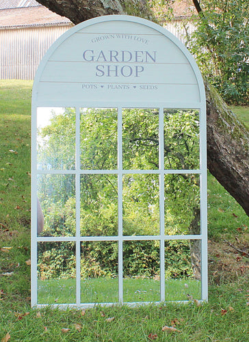 Large Potting Shed Window Design Mirror - Green or Grey