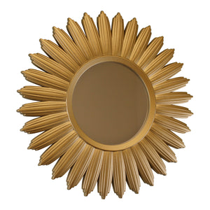 Large Gold Sunburst Wall Mirror