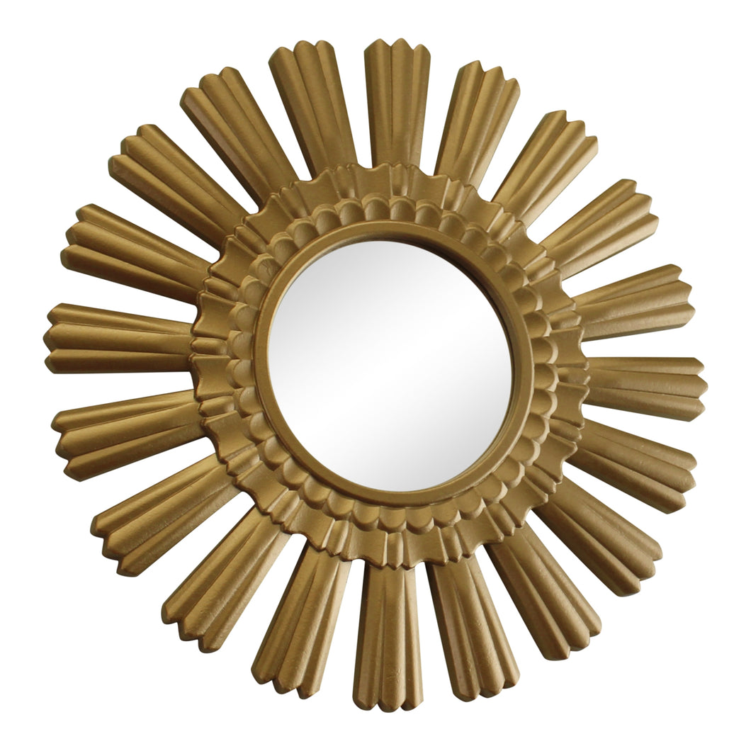 Small Gold Sunburst Design Wall Mirror