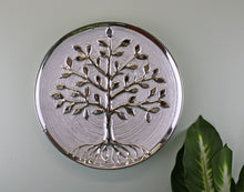 Ceramic Silver Tree Of Life Plate - Wall Hanging or Freestanding